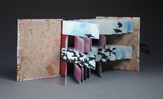 Artist book, inside detail, by Danielle Castelan   Ohio Northern University