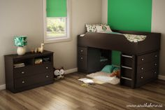Best 10 Winsome Treehouse Loft And Bunk Beds Collection : Gorgeous Dark Wood Finish Kids Treehouse Loft Bed Design Inspiration with Drawer a...