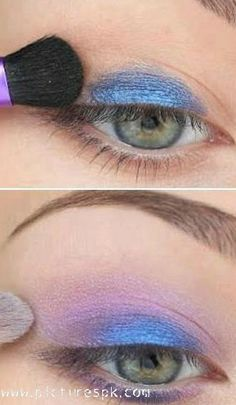 Blue Spring Makeup - Want to do it yourself? Click on the image for the tutorial!