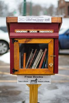 Little Free Library by gomattolson love the idea on the front - use scrabble letters!!!