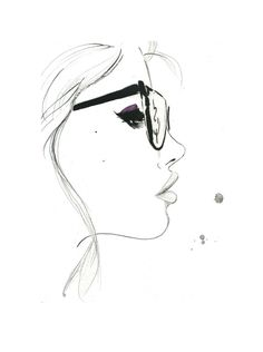 That Nerdy Girl, Print from original watercolor and pen fashion illustration by Jessica Durrant