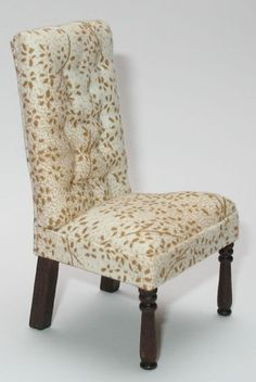 dollhouse tufted dining room chair