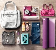 Perfect Yoga Bag With These Essentials Craving calm after the holidays? Grab these essentials and find your nearest studio.Craving calm after the holidays? Grab these essentials and find your nearest studio. Mat Yoga, Yoga Bag, Bikram Yoga, Vinyasa Yoga, Yoga Girls, Workout Gear, Workouts, Workout Exercises, Gym Bag Essentials