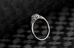 18K Rose Gold Plated With Austrian Crystal Stellux Cubic Zirconia Genuine Austrian Engagement Ring
