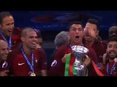 Celebracion Trofeo Jugadores de Portugal! - Portugal vs Francia 1-0 - Fi...