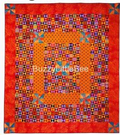 Quilt-Pattern-Hourglass-Quilt-Large-Small-Pinwheel-Colorful-Easy-Skill-Level