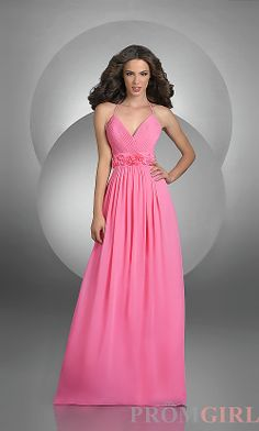 Rosette Trim Bridesmaid Dress by Bari Jay