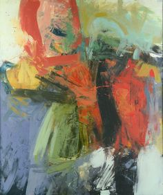 Henry  Jackson - Henry Jackson at Seager Gray Gallery shows Untitled a painterly abstract figure in oil and cold wax.