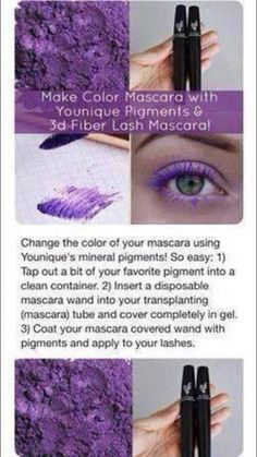 Younique's Mineral Eye Pigments | 3D Fiber Lash Mascara | Fiber Lash Mascara | Moodstruck | 3D Fiber Lashes | Eyeshadow | purple mascara| Cosmetics | Dual Purpose | Younique Presenter | Makeup | Makeup Artists | Beauty Products | Fastest Growing Team | Fastest Growing Younique Team | Direct Sales | Work From Home | Paid Instantly | Unlimited Income Potential | www.myyouniquelook.com