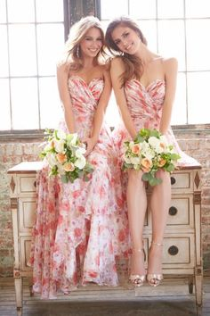 5d9b29f4e58 22 Floral Print Bridesmaid Dresses for Spring and Summer  Weddings   bridesmaiddresses Wedding Trends