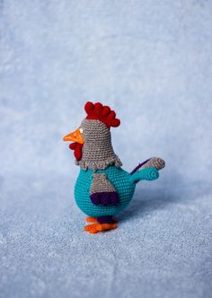 Cock a doodle do! My dame has lost her shoe, My masters lost his fiddlestick, And knows not what to do. =))))  Funny toy from ToyMagic. The crochet pattern of Cock Louie includes 9 pages of instruction and clarifying pictures how to make this toy + unlimited email help from me in case you