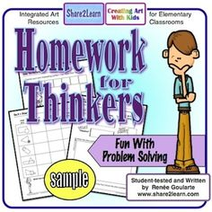 No-prep problem-solving for homework!One-page problem-solving activities to be used any time of year. Activities support various content areas and basic skills and give students interesting opportunities for creative problem-solving. 2nd Grade Math, Fourth Grade, Second Grade, Problem Solving Activities, Project Based Learning, Critical Thinking, Homework, Invite, Parenting