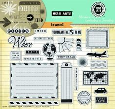 "Hero Arts Stamp Your Story - Travel 6""x8"" Cling Stamp Set AC031"