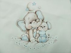 Baby Elefante, Cute Baby Elephant, Animal Illustrations, Cake Pictures, Smurfs, Cute Babies, Safari, Diy And Crafts, Baby Boy