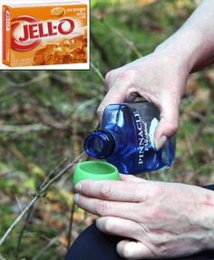 Adult Campfire Drinks - orange cream shots, wine in a bag, champagne in a can, who knew?