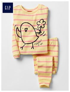Shop Gap for comfortable and adorable baby girl pajamas. Find pajamas sets for baby girls, footed one-piece styles and robes in a variety of colors and prints. Cute Toddler Girl Clothes, Toddler Girl Outfits, Baby Girl Pajamas, My Baby Girl, Baby Girls, Princess Closet, Sleep Set, Cute Toddlers, Baby Gap