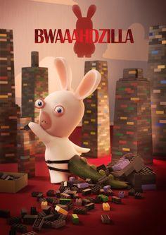 Beware of Bwaaahdzilla, the most clumsy of all Rabbids!