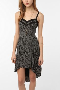 Chiffon high/low midi dress. Urban Outfitters. $69.00