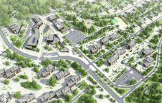 Town-planning concept.Blagoveschensk
