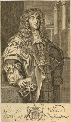 Engraving of George Villiers Duke of Buckingham, 1660-1690.