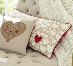 Heart Lumbar Pillow Cover