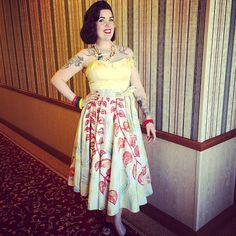 Wednesday // Day Dixiefried Bustier from @pinupgirlclothing and Mexican circle skirt from @papermoonvtg #vlv18