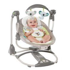 Ingenuity Multifunction Electric Music Swing | 0-36 months  Price: 297.00 & FREE Shipping  #maternity Portable Baby Swing, Brighton, Baby Swing Walmart, Baby Swings And Bouncers, Electric Music, Cradle Bedding, Baby Alive Dolls, Kids Swing, Swinging Chair