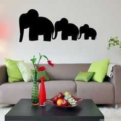 These glorious family of elephants add brightness and color to your space of choice. Add these elephants stickers to your wall and enjoy their brightness - family of elephants are only one of our many animal wall stickers.