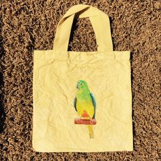 Parrot bag dyed yellow