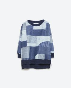 Image 6 of QUILTED SWEATSHIRT from Zara