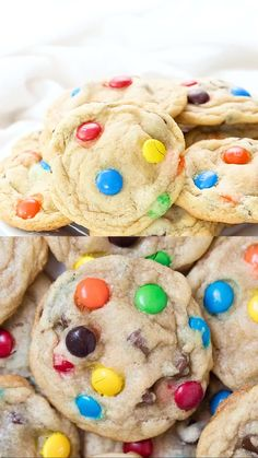 keto cookie recipes BEST M&M Cookies - Super soft, chewy, crispy edges and full of chocolate! These M&M cookies taste like they came straight from a bakery! Cookies Receta, M M Cookies, Baking Cookies, Best M&m Cookies Recipe, Confetti Cake Mix Cookies, Home Made Cookies Recipe, Smartie Cookies, Birthday Cake Cookies, Halloween Recipe