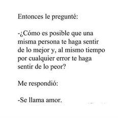 """Hermosas palabras. Sí. Se llama amor.  (@esadolescencia) en Instagram: """"#quotes #frases #esadolescencia"""""""