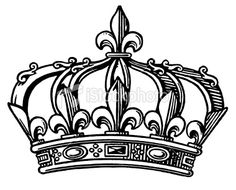 Fleur-de-lis Crown Prints by Pop Ink - CSA Images at AllPosters. Diadem Tattoo, King Crown Drawing, Corona Tattoo, Crown Art, Crown Tattoo Design, Queen Tattoo, Oldschool, Free Vector Art, Clipart
