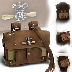 Alchemy Gothic Steampunk Wing Commander's Attache Leather Belt Pouch And Hand Bag Brown Steampunk Wings, Steampunk Dress, Gothic Steampunk, Steampunk Clothing, Steampunk Fashion, Steampunk Costume, Steampunk Pirate, Steampunk Wedding, Leather Belt Pouch