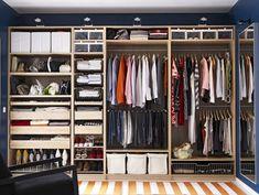 Luxurious IKEA Closet Design for Master Bedroom : IKEA Closet Design - クローゼット - Kleiderschrank Bedroom Closet Design, Master Bedroom Closet, Ikea Bedroom, Bedroom Wardrobe, Wardrobe Design, Closet Designs, Bedroom Storage, Bedroom Ideas, Bedroom Wall