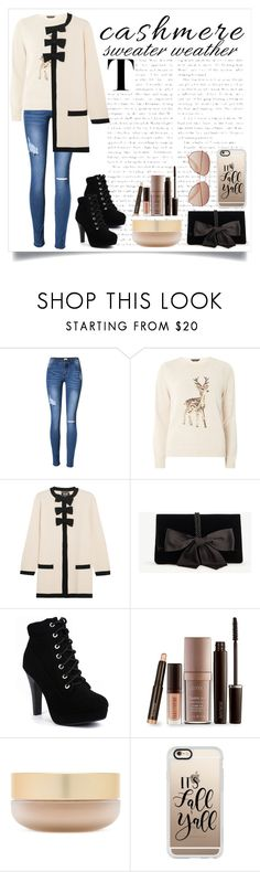 """""""Cashmere Sweater"""" by apoorvakingar ❤ liked on Polyvore featuring Dorothy Perkins, Boutique Moschino, Ann Taylor, Laura Mercier, Eve Lom, Casetify, H&M and cashmere"""