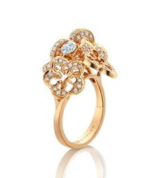 Boodles Blossom Cluster Rose Gold Diamond Ring