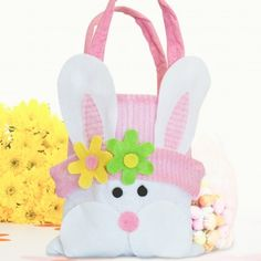 Personalised Bunny Bag with Easter Egg Chocolates
