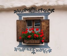 Swiss village....love the painted detailing