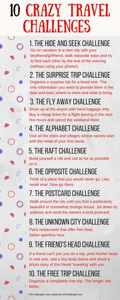 A crazy travel challenges list for the wild-spirited - Travel Quotes Bucket Lists, Bucket List For Teens, Best Friend Bucket List, Best Friend Challenges, Challenges To Do, Travel Advice, Travel Quotes, Travel Ideas, Travel Tips