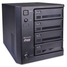 Verbatim PowerBay Quad Drive RAID - 3.5 4-Bay USB 2.0/eSATA/Dual FireWire 800 RAID External SATA HDD Enclosure (Black)