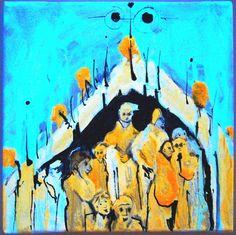 "Saatchi Online Artist: Lilith Milkyway; Mixed Media, 2012, Painting ""Sungazing II"""