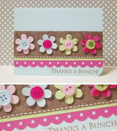 Flowers and buttons - so easy!