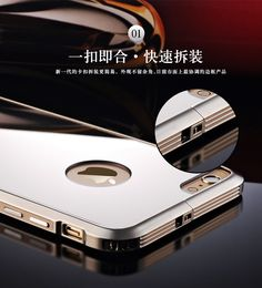 Elegant luxury Phone Case For Apple iphone 6S High-end Ultra Thin Mirror Cover + Aluminum Frame Cover for iphone 6S Phone Bag 6s