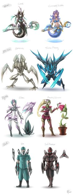 The second Zyra one wouldn't fly because it looks too much like Diana