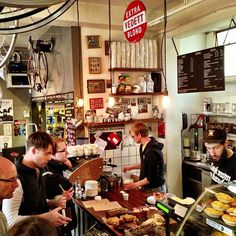 Coffee, cake, bikes... everything a cycling and caffeine fan could want at Look Mum No Hands! in London.