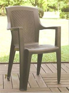 Záhradná stolička kreslo EDEN RATTAN rattan plastové  hnedá