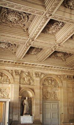 Interior Architectural Details At The Chateau De Versailles, Paris.