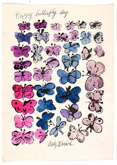 Butterflies, by Andy Warhol.