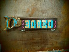 Kenji Nakayama's excellent sign painting skills applied to antique saws.